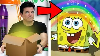 Drawing Spongebob with whatever is in the MYSTERY BOX! | Butch Hartman