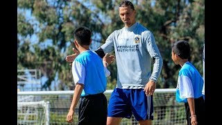 Wild Boars Soccer Team Scrimmage with Zlatan Ibrahimovic