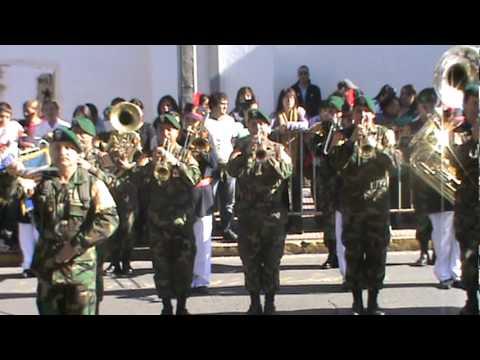 himno nacional de Chile entonado por la banda de regimiento yungay