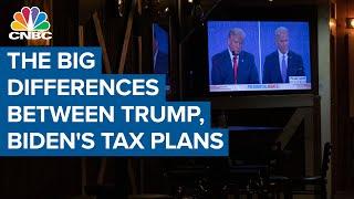 The big differences between Donald Trump, Joe Biden's tax plans
