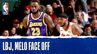 Melo & LeBron Face Off In Year 17!