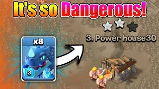 It's Insane😲All Electro Dragon VS Town Hall 11 In War Attack | New Troop in Clash Of Clans