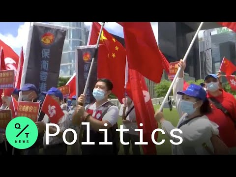 Pro-Beijing Supporters Hail 'Hong Kong's Return to China' After Security Law Passes