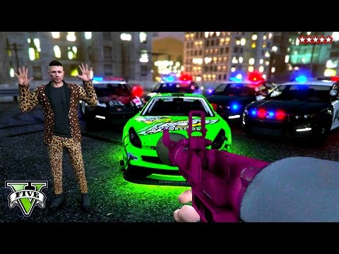 GTA 5 Epic COP CHASE - Playing BUSTED w/ The CREW GTA 5 Online PS4