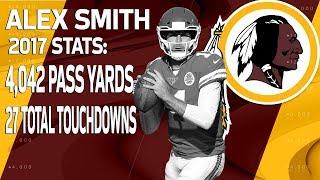 New Redskins QB Alex Smith's 2017 Highlights | 🚨 Trade Alert 🚨 | NFL