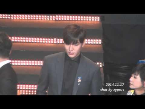 '141117 Lee Min Ho  2014Popular Culture and Arts Award