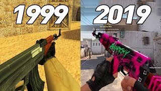 Evolution Of AK 47 in Counter Strike Games 1999 - 2019