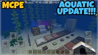 MINECRAFT PE 1.3 AQUATIC UPDATE RELEASED!!! (DOWNLOAD LINK)