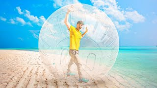 EXPLORING THE WORLD IN A BUBBLE BALL!