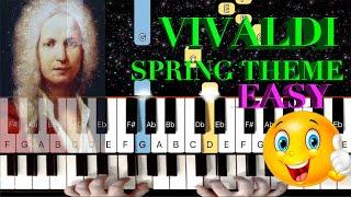 Vivaldi - Spring Theme - EASY Piano Tutorial/Lesson (From The Four Seasons)