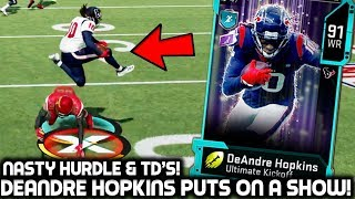 DEANDRE HOPKINS MAKES CRAZY PLAYS! JULIUS PEPPERS! Madden 20 Ultimate Team