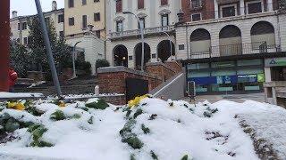 ESPECIAL: Jornalista mostra nevasca na Região do Vêneto