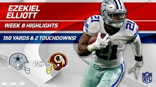 Ezekiel Elliott's 33 Carries, 150 Yards & 2 TDs! | Cowboys vs. Redskins | Wk 8 Player Highlights