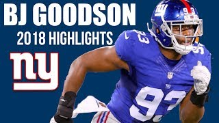B.J Goodson NY Giants Highlights 2018