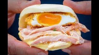 Crispy Egg Buns with ham hock & Miso hollandaise  -  Breakfast Recipe