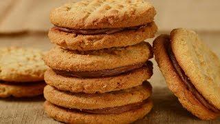 Peanut Butter Sandwich Cookies Recipe Demonstration - Joyofbaking.com