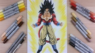 drawing goku ssj4 full body tolgart youtube musicbaby