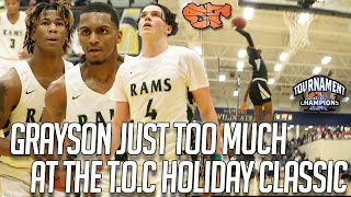 GRAYSON JUST TOO MUCH at TOURNAMENT OF CHAMPIONS HOLIDAY CLASSIC!! | Grayson vs. Lithonia