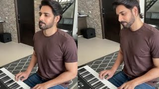 Watch: Hero Sushanth plays Manam theme song with piano..