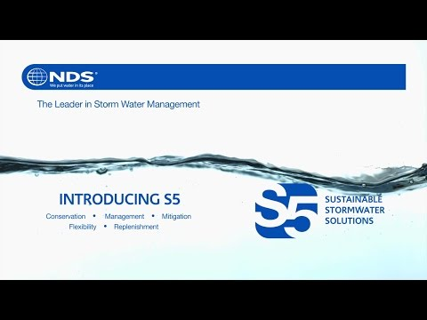 NDS S5 Sustainable Stormwater Solutions offers a scalable and flexible single source solution that is engineered for high performance to meet today's standards for on-site stormwater management.