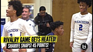 Sharife Cooper RESPONDS To Trash Talking Crowd w/ CRAZY w/ 45 Points!! HEATED Rivalry Game!