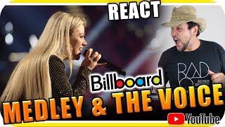 KELLY CLARKSON MEDLEY & THE VOICE USA 2018 - Marcio Guerra Reagindo React Reação