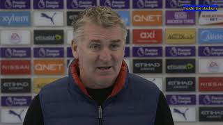 Manchester city Vs Aston Villa 2-0 | Dean Smith Post Match Interview