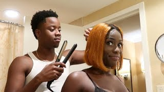 Billy Does Eva's Hair For The BET Social Awards