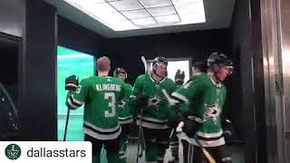 Dallas Stars 5/1/19 playoff pre game hand shakes