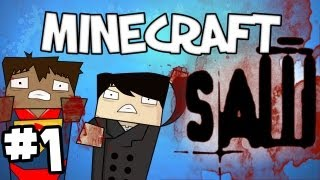 """Minecraft - """"SAW"""" Part 1: LET THE GAME BEGIN"""