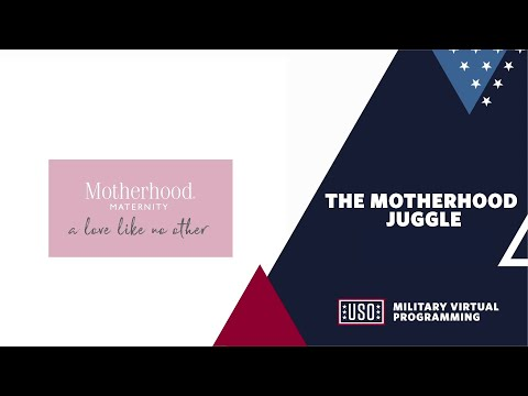 The Motherhood Juggle, a virtual discussion led by Emmy Award-Winning host and executive producer Tamron Hall, created by Motherhood Maternity® and the USO to bring health and wellness experts and moms from around the world together to build community through sharing experiences and providing support as families juggle the many factors of pregnancy and parenting – especially amidst a global pandemic. Join the series on September 21 at 2 PM ET. Register at: bit.ly/USOMoms921