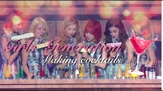 ☆ SNSD Cocktail making, shaking and tasting (ft. A4 Taeyeon)
