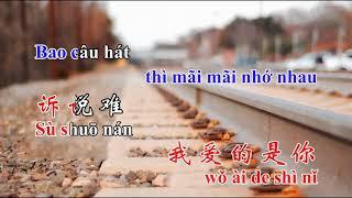 Tình lỡ cách xa, nhạc hoa, song ngữ karaoke, 我愛的是你,  Wǒ ài de shì nǐ