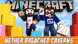 Minecraft Nether Breached Caverns - EP20 - Enchanting!