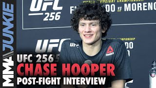 Chase Hooper declines beer, will celebrate with M&Ms   UFC 256 post-fight interview