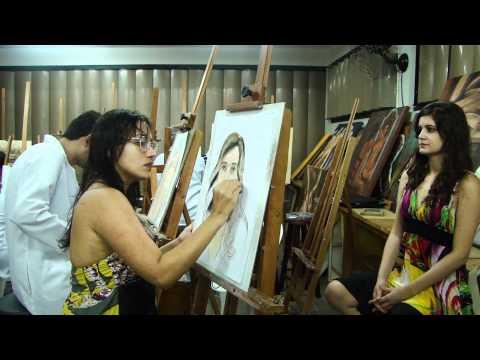 Pastel portrait tutorial from the place du tertre in paris