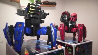 Battle of Robots Armored and weaponized 6 legged Robots