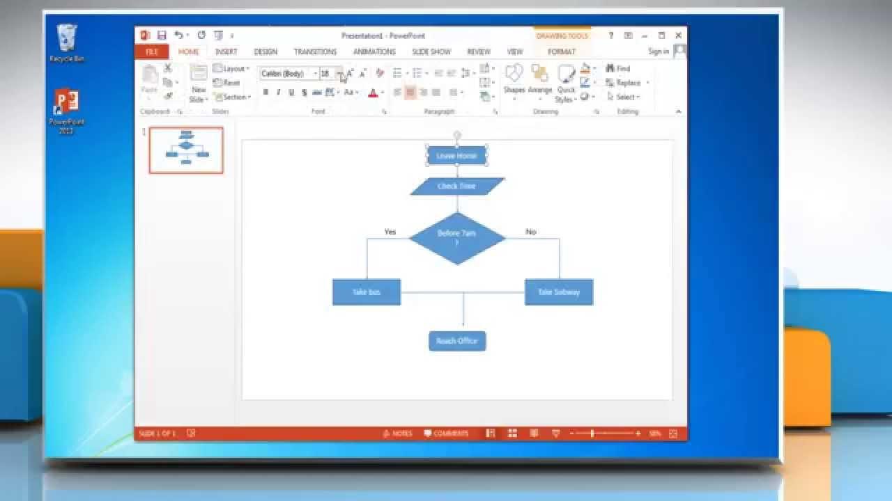 how to make a flow chart on powerpoint