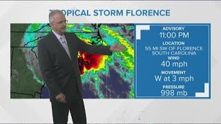 11PM Tropical Storm Florence Update 915