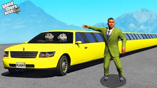 GTA 5 : Franklin Found World's Longest Car in GTA 5 ! (GTA 5 mods)