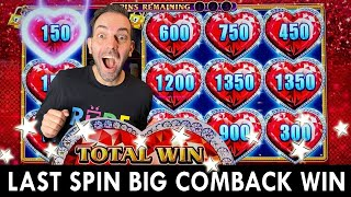 Last Spin BIG COMEBACK on $15 Bet ❤️️ Lock it Link