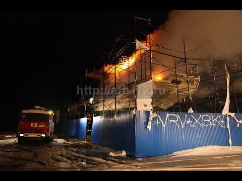 В Архангельске горела шхуна Запад