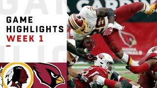 Redskins vs. Cardinals Week 1 Highlights | NFL 2018