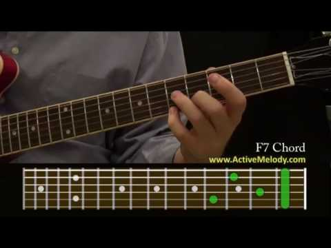 how to play an f7 chord on the guitar youtube. Black Bedroom Furniture Sets. Home Design Ideas