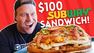$100 Subway Sandwich CHALLENGE!
