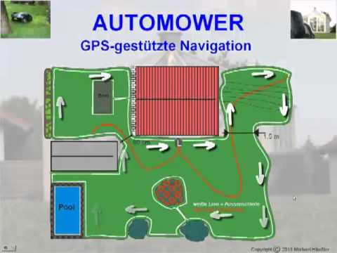 m hroboter automower 330 x gps navigation. Black Bedroom Furniture Sets. Home Design Ideas