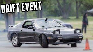 Stock, Open-Diff RX7 Drifting Attempts - Drift Event #2