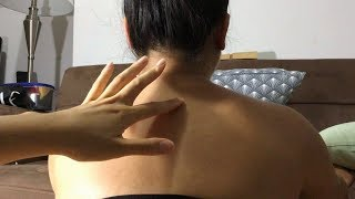 VISUAL ASMR: MOST GENTLE, RELAXING Upper Back Trace/ Letter Tracing Snipet! NO TALKING, LOOPED :)