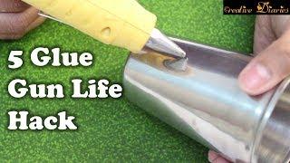 5 Awesome Hot Glue Gun Hacks I DIY Hot Glue gun crafts I Creative Diaries