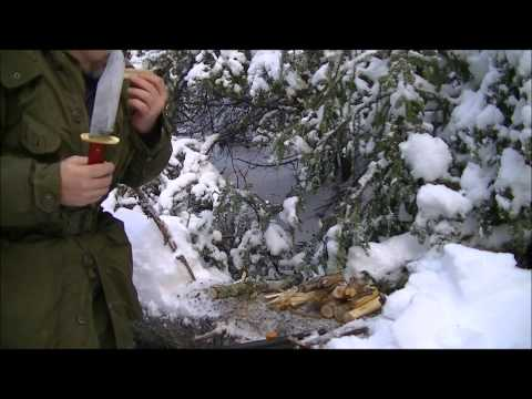 Firemaking after a ice storm, DIY firebox knock off stove